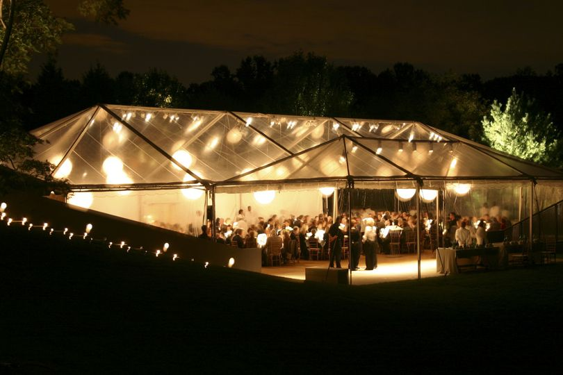 The tent at night