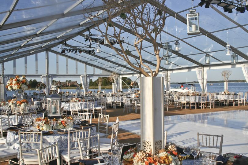 This clear tent was installed at the Chesapeake Bay Maritime Museum
