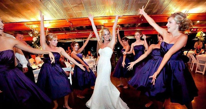 Bridal party on the dance floor