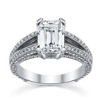 Ring with rectangular stone