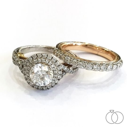 Verragio Two-Tone Engagement and Bridal Ring | Sku: 0394102