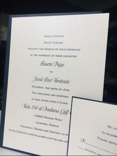 Modern Romance invitation