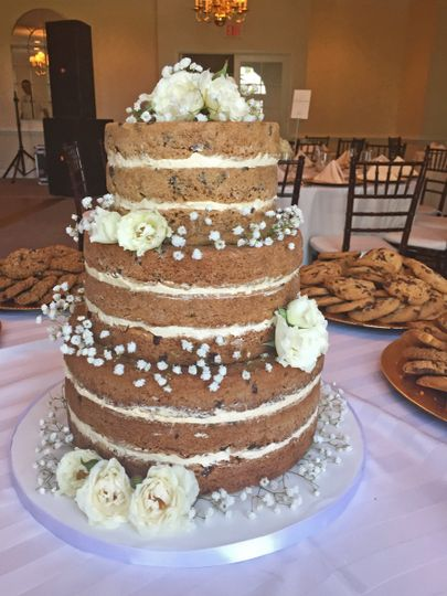 Chocolate Chip Cookie Cake with Caramel Buttercream