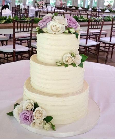Classic Buttercream Flowered Cake