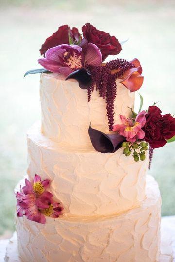 Buttercream Flowered Cake