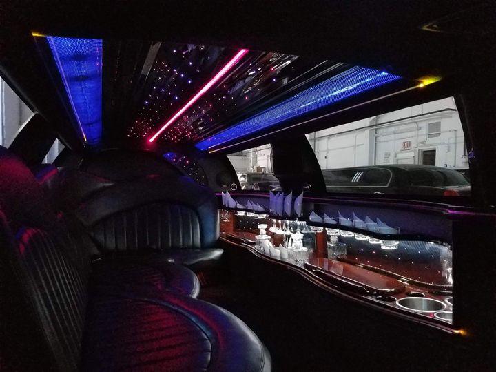 Inside of limousine