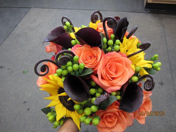 Tmx 1414448810626 Pumpkins Wedding 012 Saint Johnsbury wedding florist