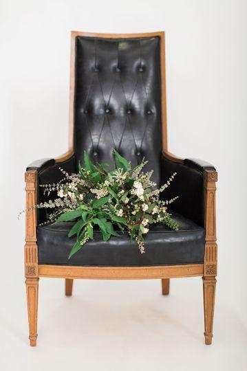 Black leather chair photos