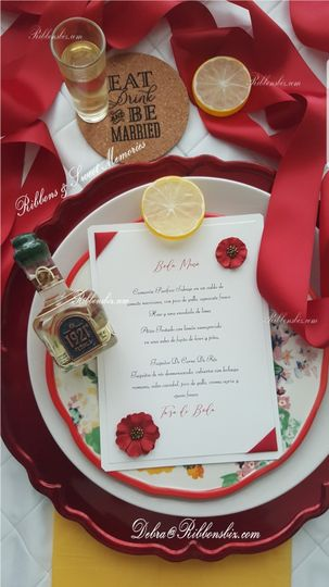 Red & White Menu