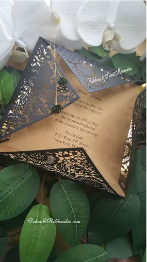 Black & Gold Mirror Invitation
