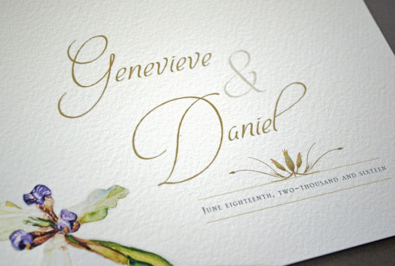 Clean, elegant wedding invitation
