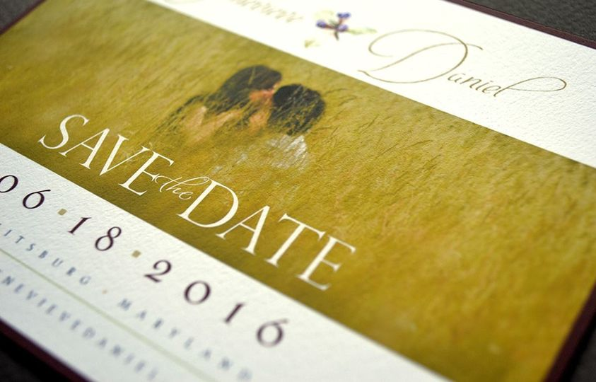 Romantic elegant save-the-date card
