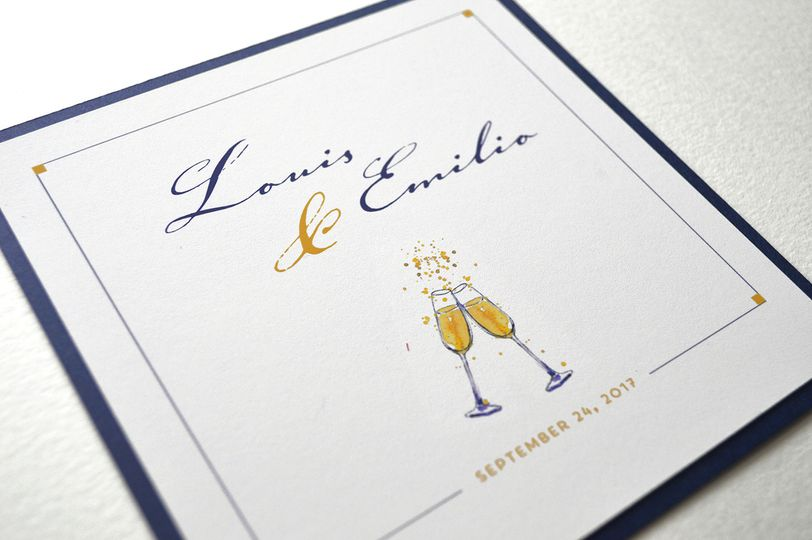Sophisticated and fun wedding invitation