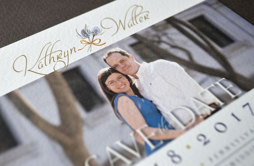 Elegant, refined, save-the-date card