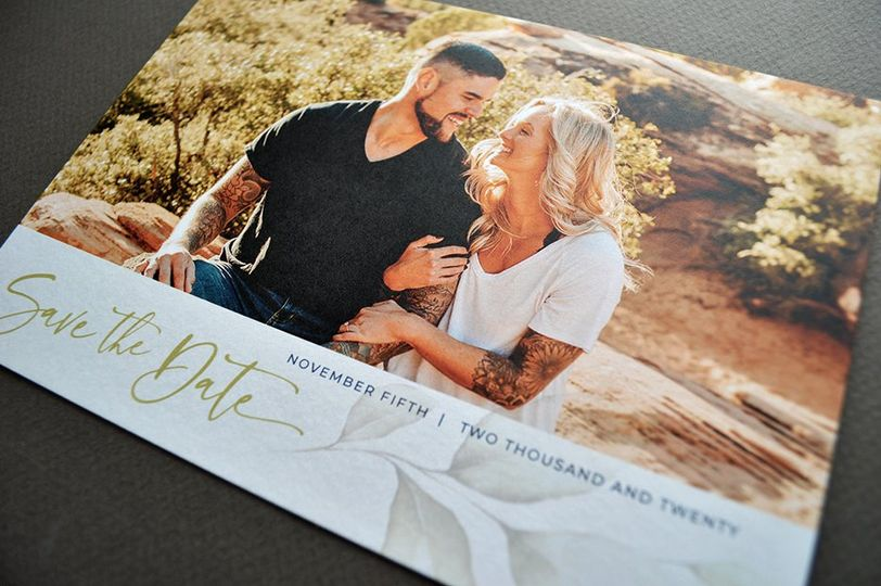 Southwest, romantic save date