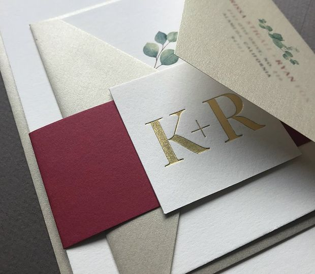 Luxurious, gold foil stamp