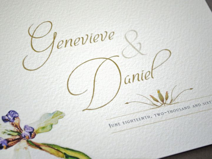 Tmx 1461171863777 Genevdanielphoto2alyr Downingtown, Pennsylvania wedding invitation