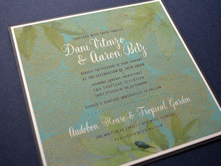 Tmx 1479315719985 Daniaaroninvbackclose Downingtown, Pennsylvania wedding invitation