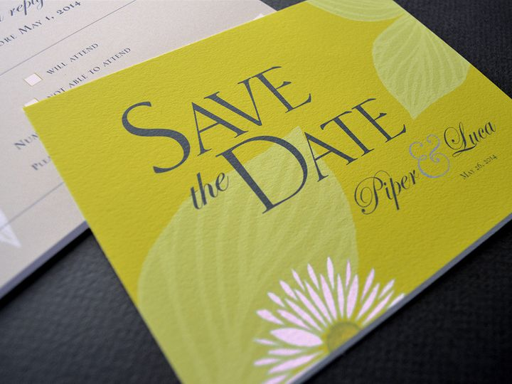 Tmx 1479315753986 Pipersavedatecloseuppink Downingtown, Pennsylvania wedding invitation