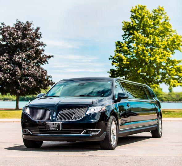 Luxury stretch limousine