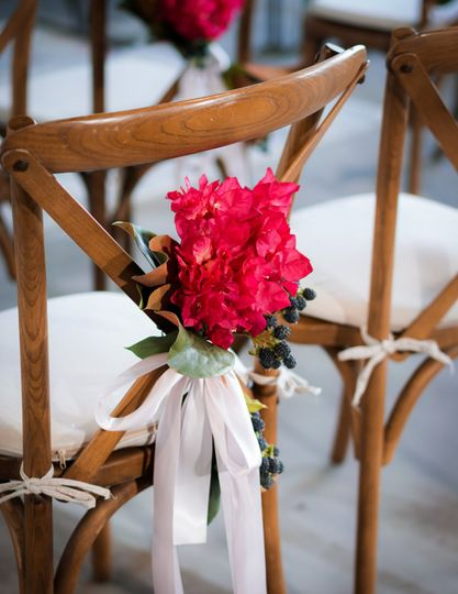 Ceremony chair with floral details