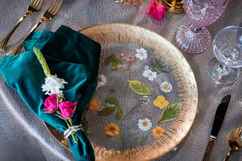 Colorful and elegant tablescape