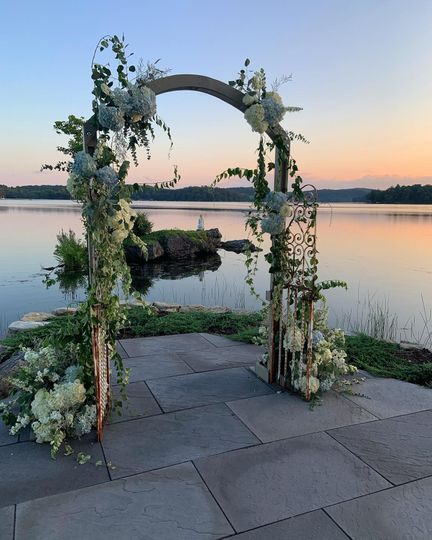 Arbor by the water