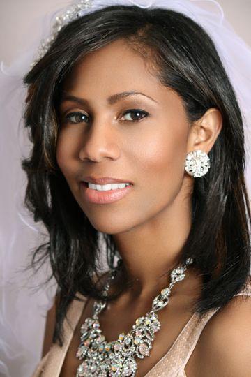 Traditional Bride / African American Bride - Hair & Makeup by:  bridalbyivana.com