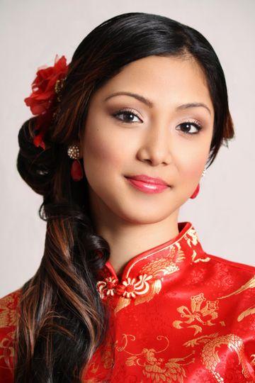 Traditional Asian Bride - Hair & Makeup by:  bridalbyivana.com