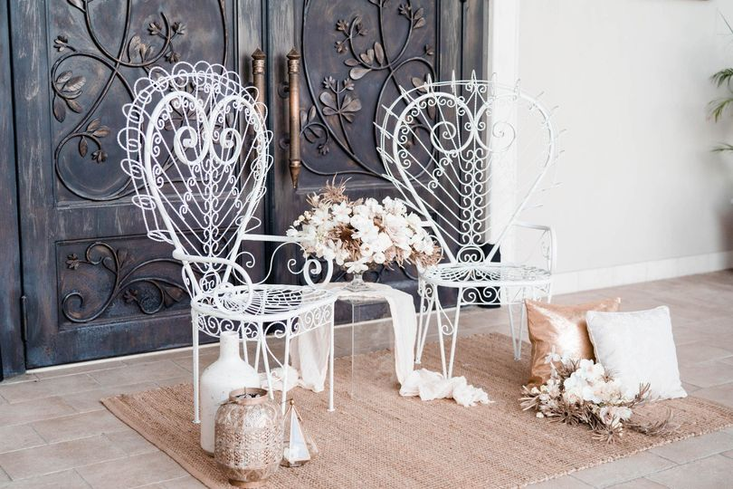 Antique Iron Peacock Chairs
