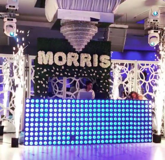 Bar mitzvah stage setup