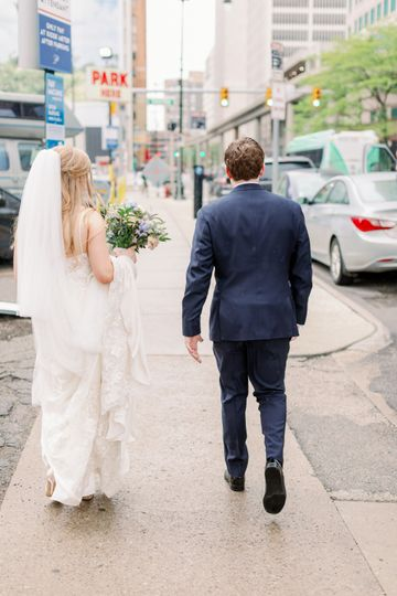 Newly married stroll