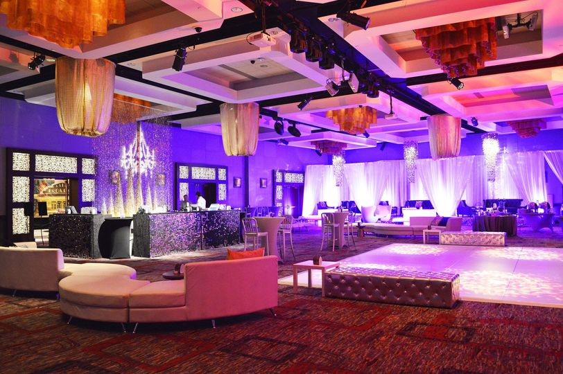 Mystic lake casino hotel wedding ceremony reception for Luxury furniture rental nyc