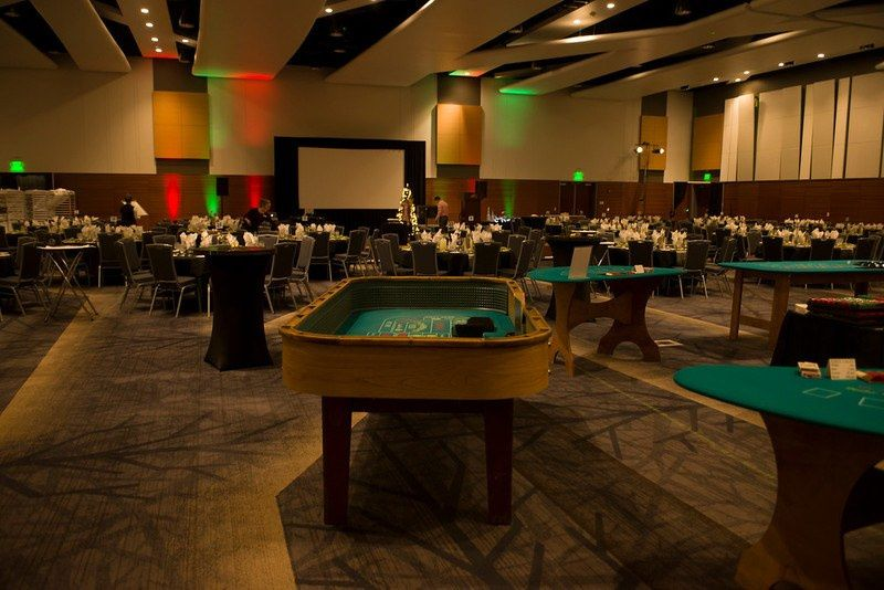 Reception with casino tables