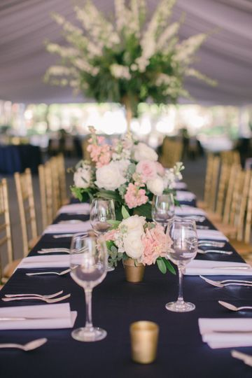Elegant spring tent wedding
