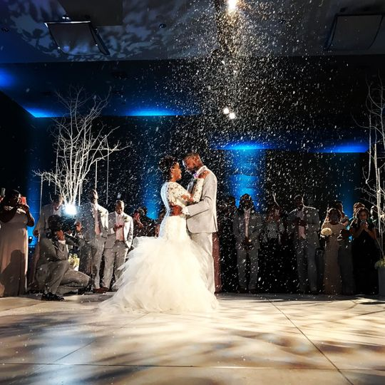 First dance with snow fall