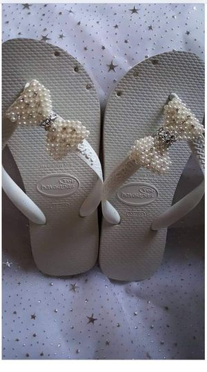 havaianas made with crystals and beads