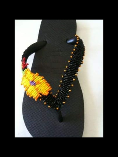 havaianas custom made with beads and crystals $75.00