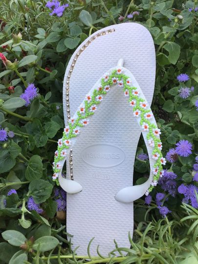 Havaianas custom made with crystals and rhinestone dayse