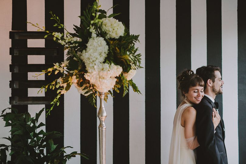 Miami Beach Woman's Club Wedding Portraits by La Vie Studios