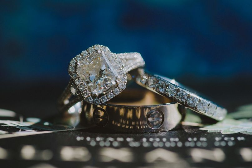 Palms Hotel & Spa Wedding Ring Detail Photo by La Vie Studios