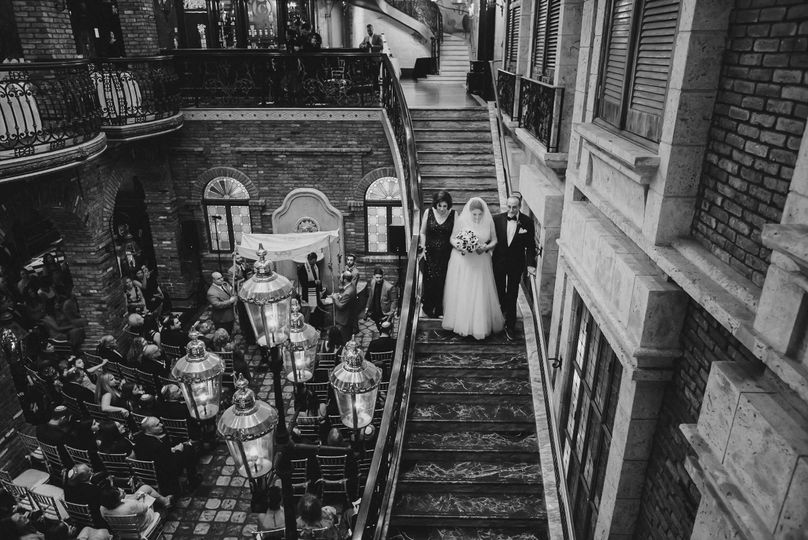 Powerful Candid Wedding Ceremony Photo at the Cruz Building, Coconut Grove by La Vie Studios