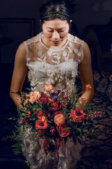 Wild & colorful bouquet