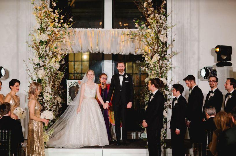 Wedding ceremony done