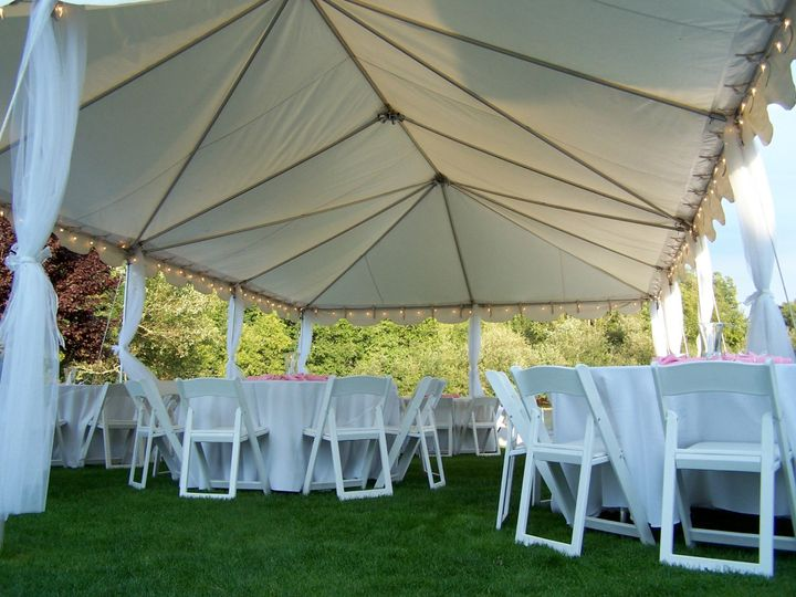 Tent and chairs