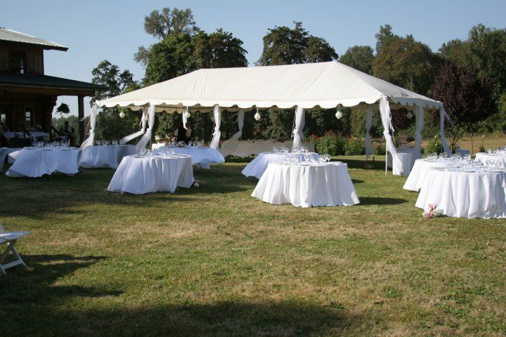 Event tent and tables
