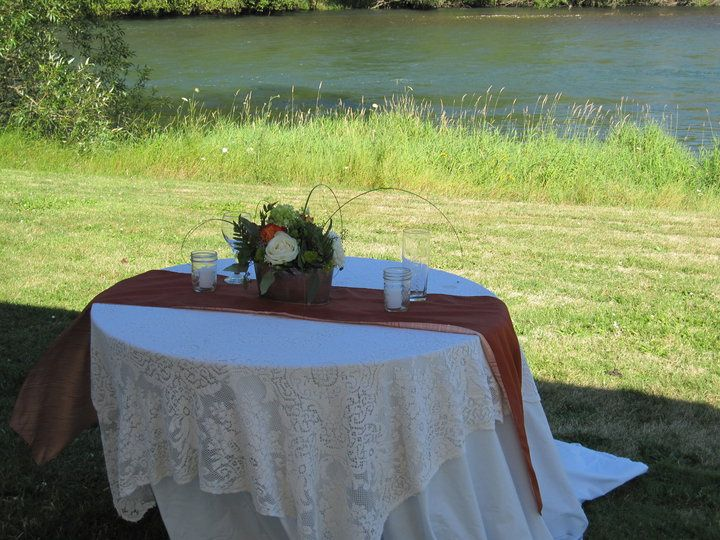 Table by the river