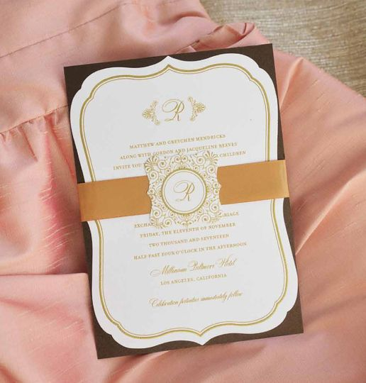 800x800 1421870878441 gold monogram wedding invitation with ribbon