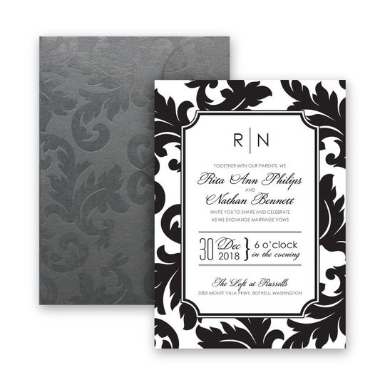 800x800 1421875054711 katarina flocked wedding invitation modern damask