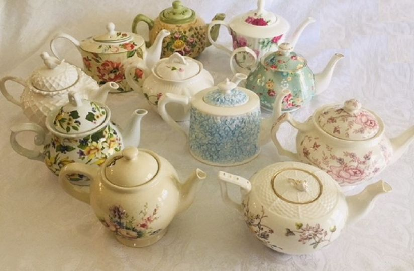 Variety of beautiful teapots